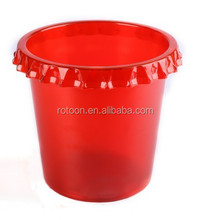Flower shape red color ice bucket cooler/factory direct sell ice bucket