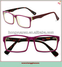 Vintage cristal marco Retro gafas lente clara Eyewear