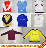 2015/2016 cheap custom designs long sleeve soccer jersey barclays league thai quality football jersey goalkeeper umifrom
