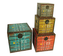 antique trunk, flag trunk box and wooden trunk for home decoration
