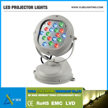 YJX-0039 IP65 PF0.9 RGB high power 18W 36W round stand projector LED Wall Washers