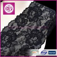 High quality 18 cm black and white elastic lace trim