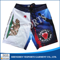 wholesale custom design your own sublimation printing 4 way stretch blank board shorts
