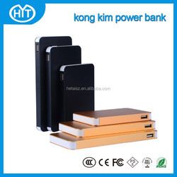 High quality metal power bank kong kim 5000mAh 8000mAh 10000mah mobile power bank with CE, ROHS, FCC
