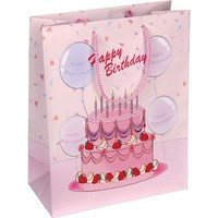 pink birthday gift bag for girls