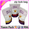 Yason ziplock medical bags scooby snax 4g 10g glitter pcustomised printed plastic herbal incense bags with ziplock otpourri bag