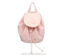 Alibaba china pink cute drawstring backpack bag made in China
