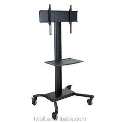 new model outdoor glass lcd tv stand with wheels / tv rack designs TW018
