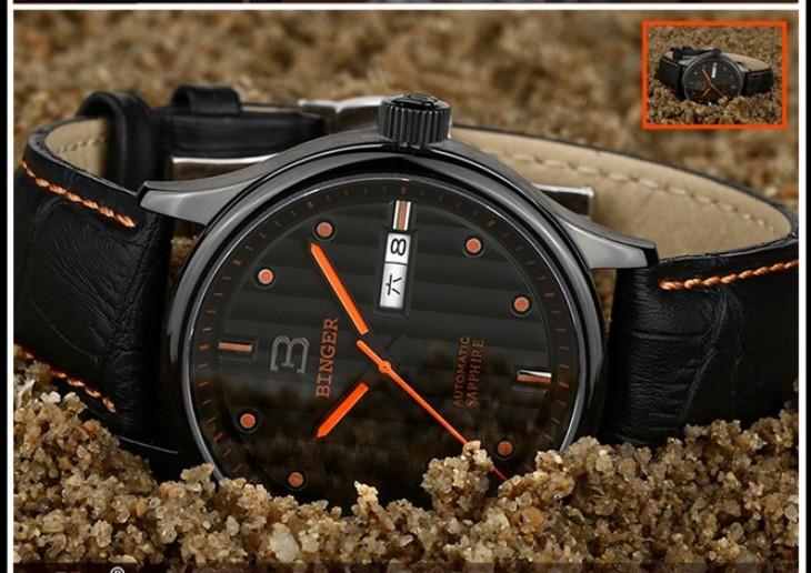 Бренд Бингер часы Армии специальные водонепроницаемые светящиеся мужские спортивные Двойной Дата Циферблат 24 часы Прохладный Женева Кварцевые наручные часы