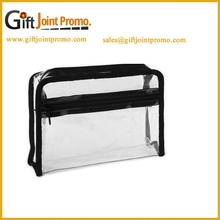 China Wholesale Clear Vinyl Travel Cosmetic Bag, Clear PVC Cosmetic Bag