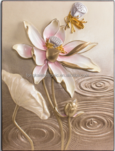Beautiful flower designs relief painting, modern abstract painting, home wall decoration