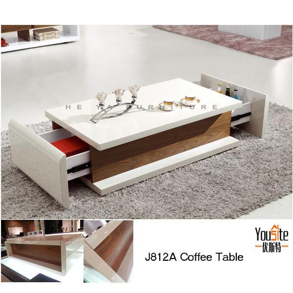 Modern transforming furniture wood veneer center table for Html table center