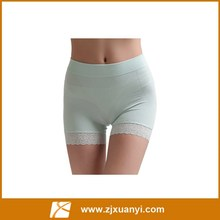 china factory manufactuer seamless women classic boyshort with lace