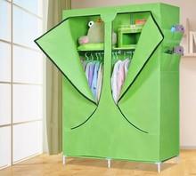 Bedroom plastic storage wardrobe /PP plastic home diy portable closet/ easy assembly high quality portable folding wardrobe
