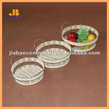 handmade round fruit basket rattan