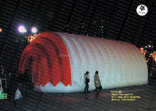 Big custom outdoor using inflatable trade show tunnel tent