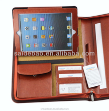 2016 New Hot-selling Zippered Panton Color Leather Portfolio,A4 Portfolio ,Leather Portfolio Case Made In China