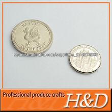 La aduana hace moneda de metal con alta calidad y precio barato