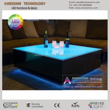 Led illuminated event club and lounge table / acrylic lounge furniture for sale