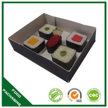 Good quality best selling round sushi tray/ maple party tray