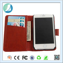 Manufacturer luxury wallet flip genuine leather case for iphone 6