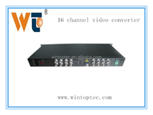 alibaba china 16 channel fiber optical video converter player Video and transmitter receiver