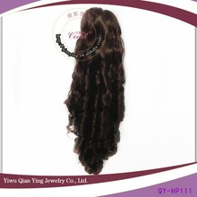 brown claw clip synthetic curly hair ponytail