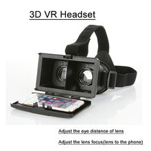 New type Virtual Reality 3D VR headset for 4.7/5.7 inch smart phone watching 3D sex movies 3D VR headset glasses