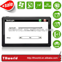 2014 new sale big screen 7 inch coach sat nav device with big memory latest lorry truck map