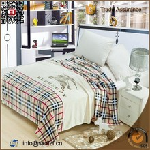 Super soft custom made polyester printed luxury brand flannel blanket