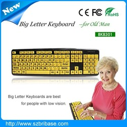 Wired Colorful Children keyboard for Kids or old people or low vision people