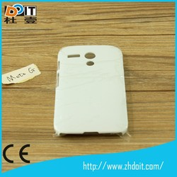 2014 new model 3D sublimation mobile case/covers for motorola MOTO E cell phone case