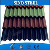 colorful stone coated steel roof tile from direct manufacturer/Color coated Metal Roofing Tile Sheet