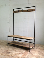 american country style rustic clothes rack/bedroom furniture