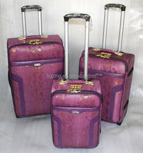 hot sale purple trolley bags/woman luggage travel bags for sale