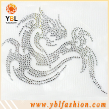 t-shirt clear rhinestone design high quality garment accessories
