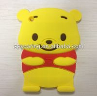 smart winnie bear silicone case for ipad mini, for ipad mini winnie bear case