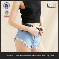 Super sexy rough manufacturers ladies short top JEANS PENT