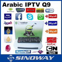 2015 best selling Arabic channels IPTV box Android TV Box with over 400 VIP Arabic/French/Tunisia channels Tv Box media player