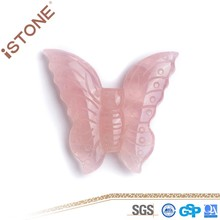 Rose Quartz Butterfly Figurine Healing Crystals And Gemstones Natural Gemstones And Semi Precious Stones For Feng Shui