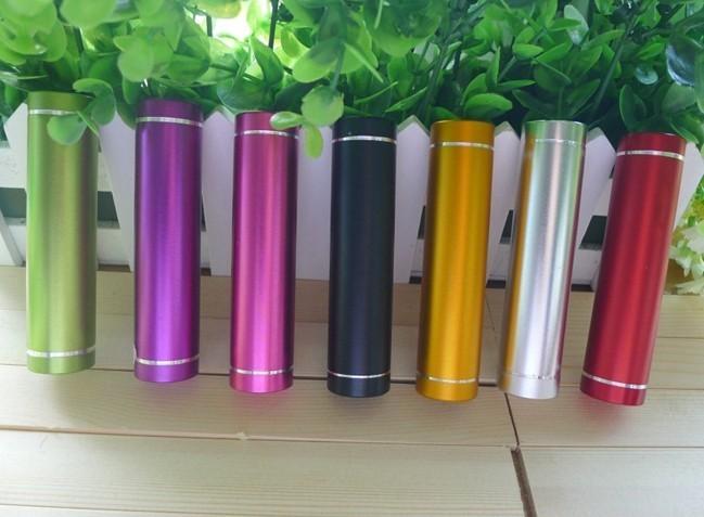 2015 Alumínio 18650 USB Bateria Portátil Banco Do Poder 2600 mAh Para O Presente de Natal