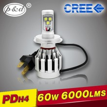 High power H4 high low beam auto car cre e led headlight