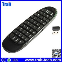 hot selling 3D Handle 2.4G Wireless Remote Control, Air mouse Wireless game Keyboard for Laptop and TV