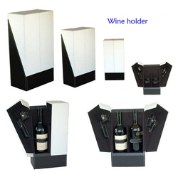 Custom logo PU leather wine carrier box for wine