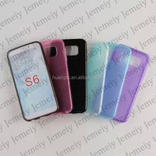For Samsung Galaxy S6 SM-G920F / S6 edge SM-G925F TPU Silicone Back Soft Gel Cover Case Fit Plain Anti Slip
