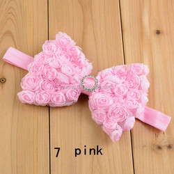baby large butterfly messy shabbies bow summer headband, Boutique toddler girls hairbands with simple pearl satin bow