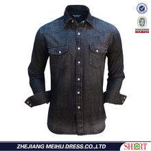 denim shirt whole sale stitching man shirt
