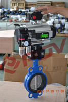 single acting ss316 pneumatic soft seal butterfly valve