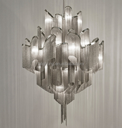 Luxury aluminum decorative silver 2015 light