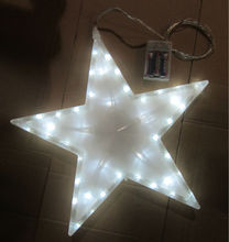christmas battery operated star led light